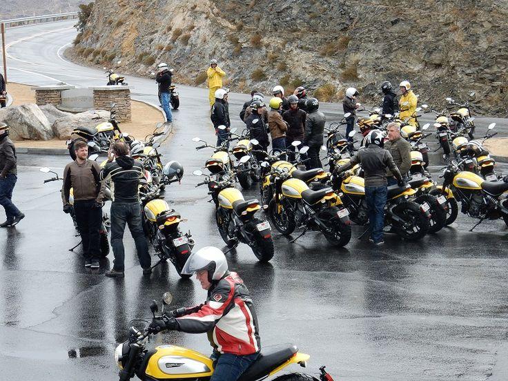 Ducati Scrambler Testgruppe