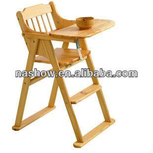Nueva plegadora de madera silla alta de bebé