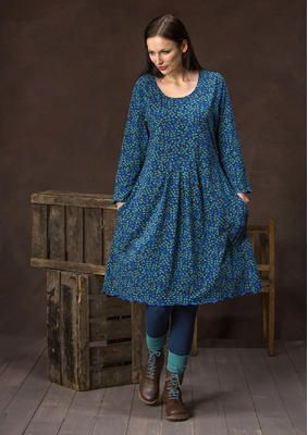 "sizes S-XXL Jersey dress ""Blueberry"" from organic cotton / spandex 65700"