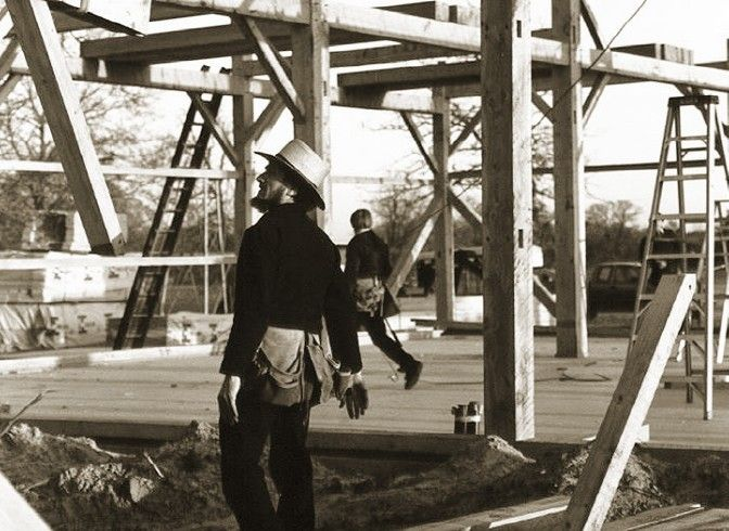 148 best images about amish barn raisings on pinterest for Amish barn construction