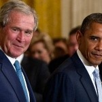 Alongside Obama, Bush Steals The Show