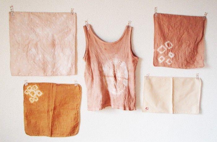 桜の落ち葉で布を染めると何色になるか知っていますか? ブナ、ヤマモミジ、イチョウの落ち葉などそれぞれ様々な色に染まるので実験しながら挑戦してみてください!