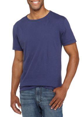 True Craft Men's Short Sleeve Long Tee Shirt - Regal Blue - Xl