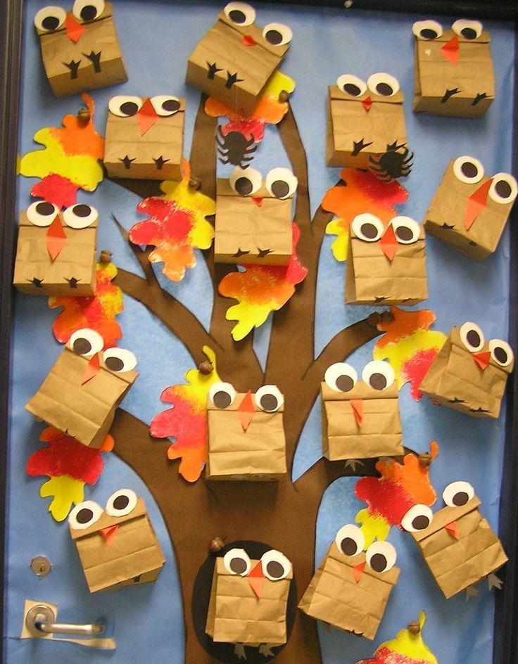 fall owl bulletin board idea…cute!