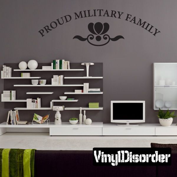 Proud Military Family Family And Friends Vinyl Wall Decal Mural Quotes  Words PA059ProudI8. Car StickersVinyl Wall DecalsCustom ...