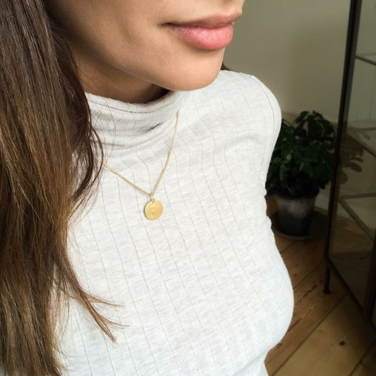 Turtleneck and golden lovetag necklace  JEWELRY >> http://www.janekoenig.com/necklaces.html