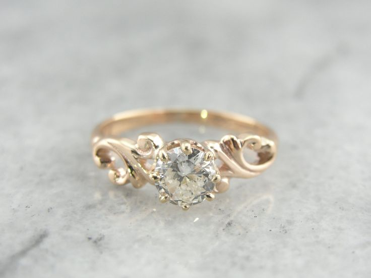 RESERVED Swirling Victorian European Cut Diamond von MSJewelers-Beautiful Love this