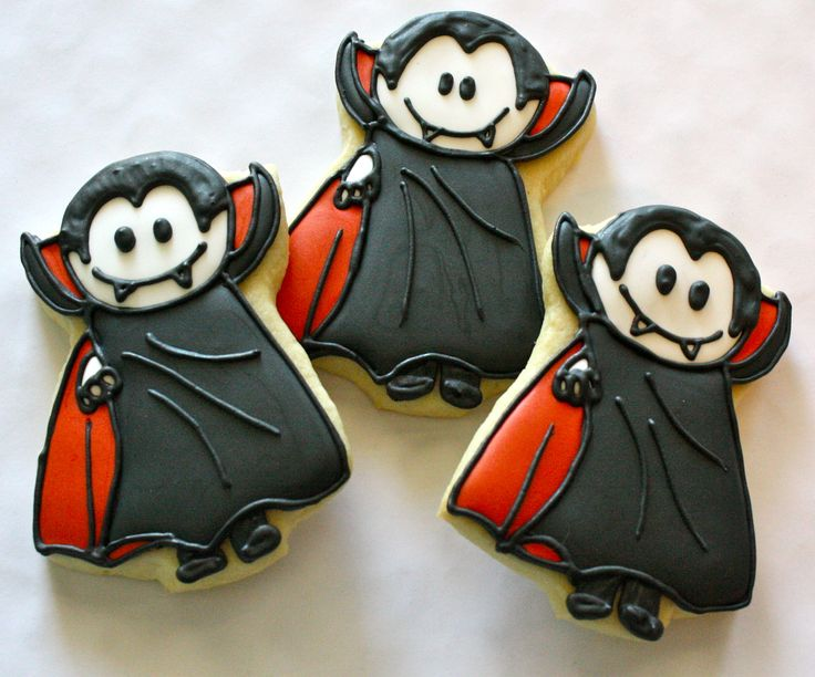 Dracula Frosted Halloween Sugar Cookies                                                                                                                                                     More