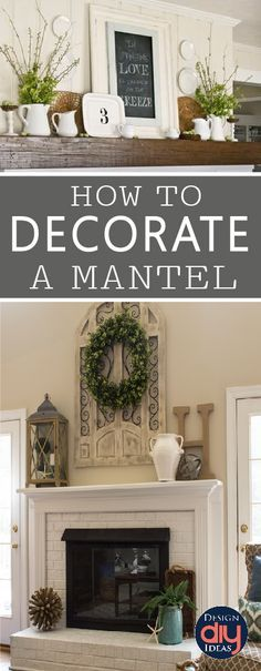 Fireplace mantel decorations and Mantle decorating