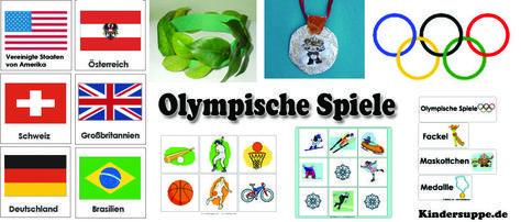 Olympische Spiele Ideen zum Basteln und Spielen für Kindergarten und Kita