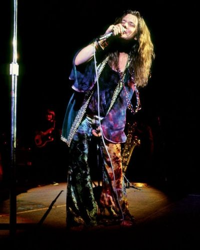 The beautiful Janis Joplin performs at Woodstock with the Kozmic Blues Band in August, 1969.