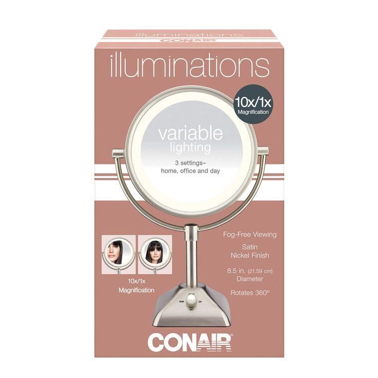 Conair 174 Variable Lighted 1x 10x Mirror Mirror Variables