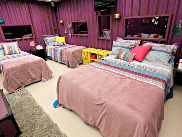 bbb decoração industrial quarto roxo - vidaloucadecasada.com.br
