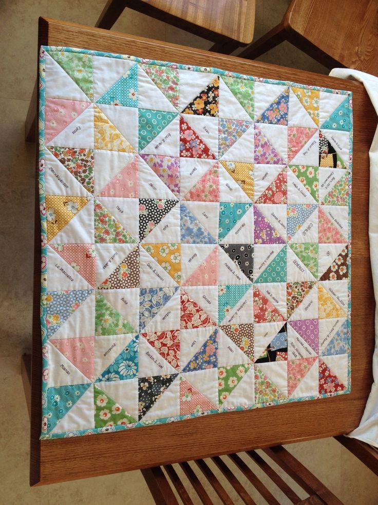 Narnie's 90th birthday Lap quilt