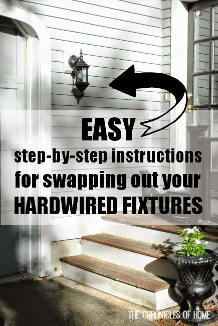 Swapping out a hardwired light fixture is easier than you think! Step-by-step tutorial.