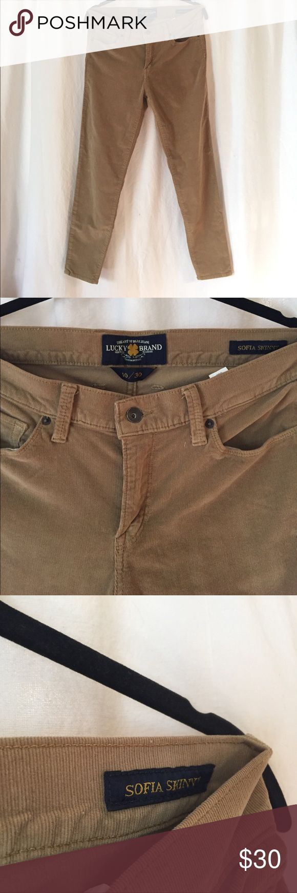 """Lucky Brand Cords Pants Sofia Straight Leg 10/30 Lucky Brand Cords Pants Sofia Straight Leg 10, 30"""" waist, M. As new condition. Stretchy. Super cute for cool spring nights! Lucky Brand Pants Skinny"""