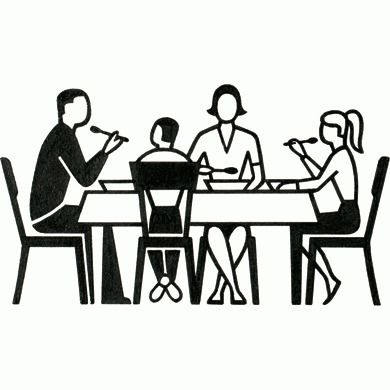 Dinner Table Pictogram - Gerd Arntz Web Archive