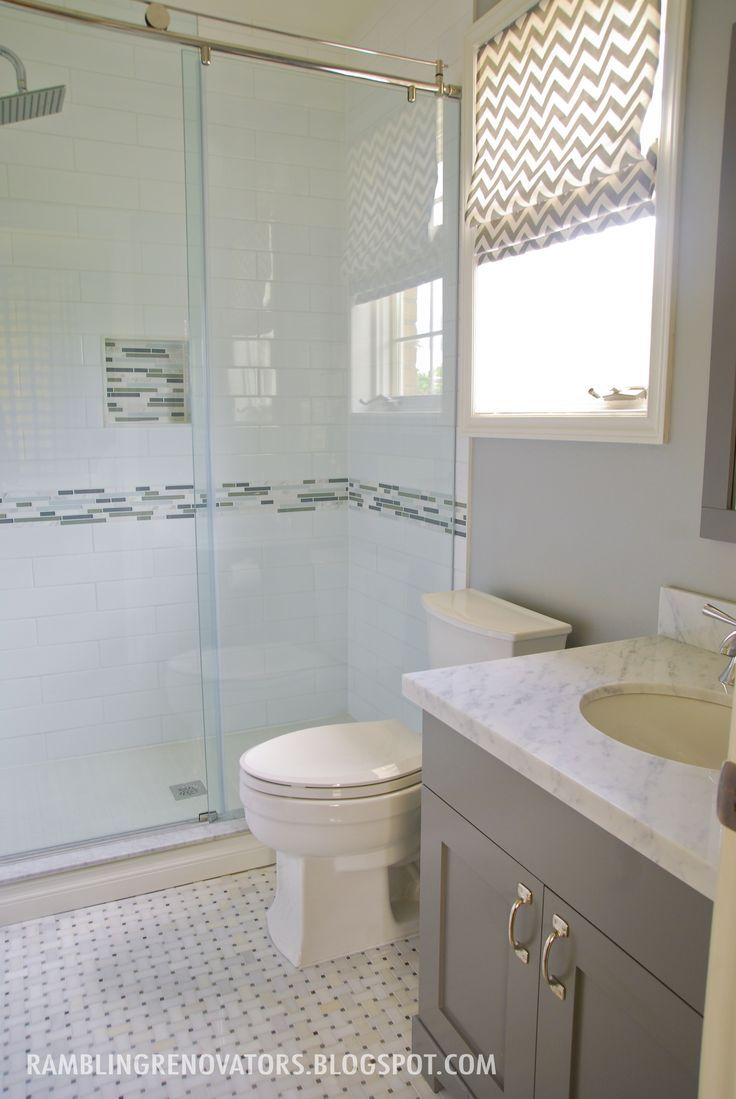 Best 25 gray and white bathroom ideas on pinterest - Bathroom colours with grey tiles ...