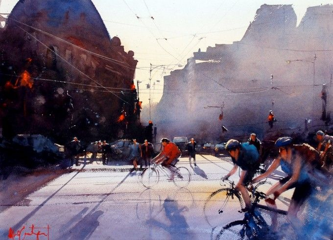 Watercolor Painting by Alvaro Castagnet - Art People Gallery