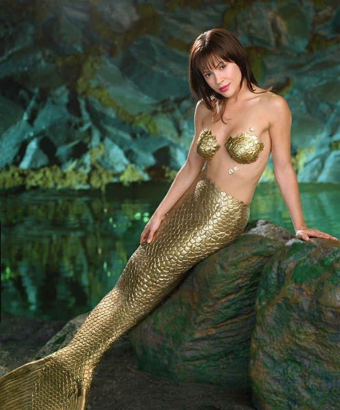 Alyssa Milano as Phoebe Halliwell - a mermaid