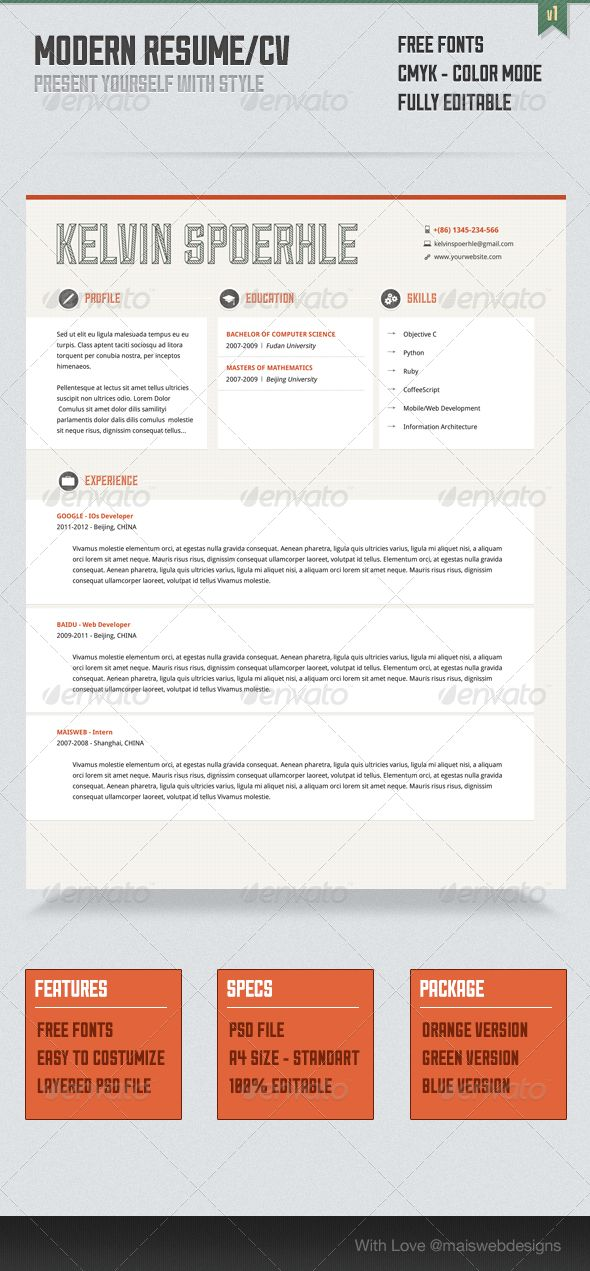 87 best CV images on Pinterest Architecture, Be simple and - net developer resume