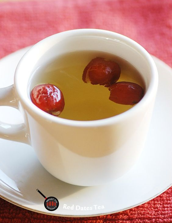 RED DATES TEA - for purging fever with ginger + brown sugar or honey