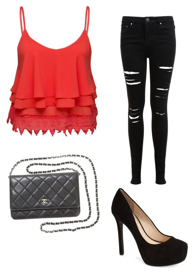 Casual ✨ by secretxx on Polyvore featuring polyvore, fashion, style, Volant, Miss Selfridge, Jessica Simpson and Chanel