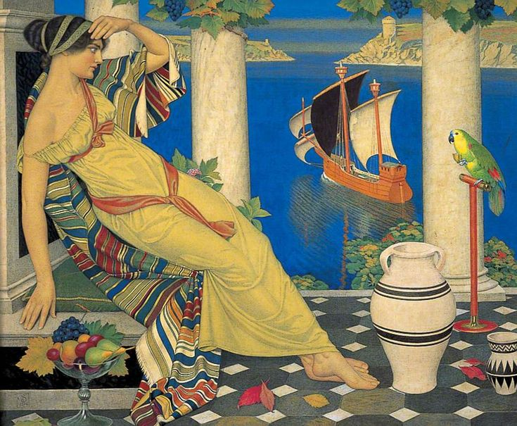 joseph+edward+southall+Ariadne+on+Naxos+1925+via+www.bbc.co.uk.jpg (944×777)
