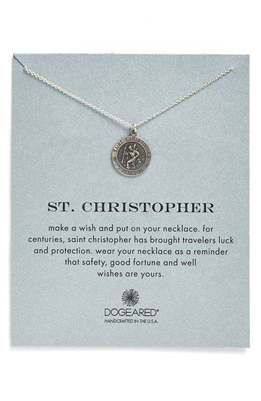 Dogeared 'St. Christopher' Pendant Necklace available at #Nordstrom