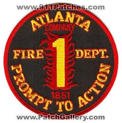 Atlanta Fire Department Company 1 Station AFD Rescue EMS Patch Georgia GA O/S