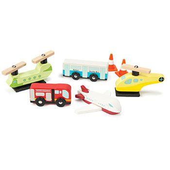 Ξύλινο σετ οχήματα αεροδρομίου Le Toy Van