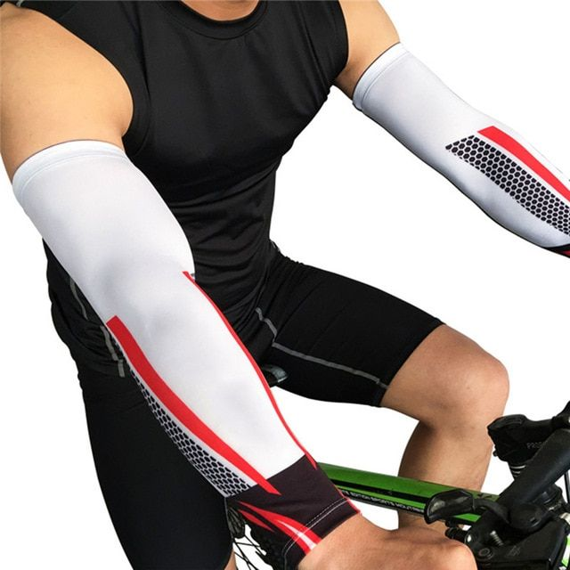 Cycling Compression Arms Sleeves Warmer Quick Dry UV Protection Running Cover