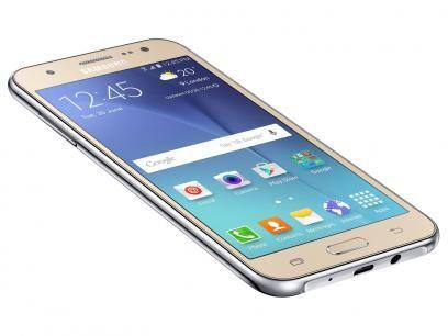 Smartphone Samsung Galaxy J5 Duos 16GB Dourado - Dual Chip 4G Câm. 13MP + Selfie 5MP com Flash  de R$ 1.099,00 por R$ 799,90