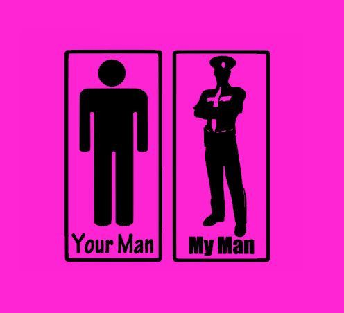 Your Man Vs My Man Policeman By Stickedecals Etsy My Cop
