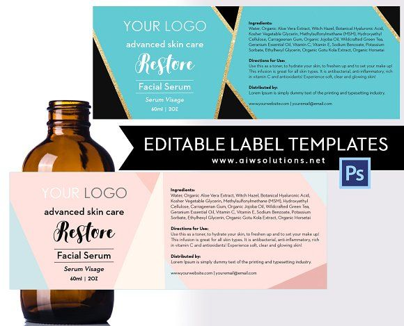 Product Label Template-ID18  @creativework247