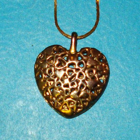 Heart Pendant Necklace - Mookie Designs Vintage