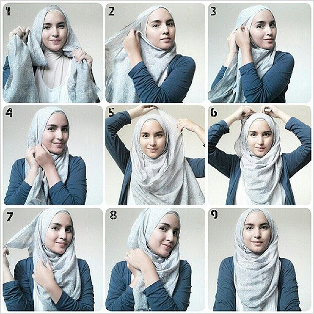 .@zahratuljannah | #hijabtutorialbyzahra #hijabtutorial #hijabtutorials #pictorial #hijabfashion... | Webstagram - the best Instagram viewer