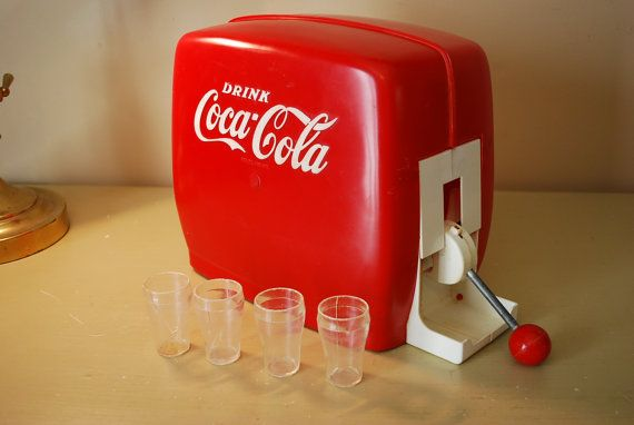 Coca Cola - Vintage 1950s Children's Toy Coca Cola Soda by AGlimpseFromthePast on Etsy