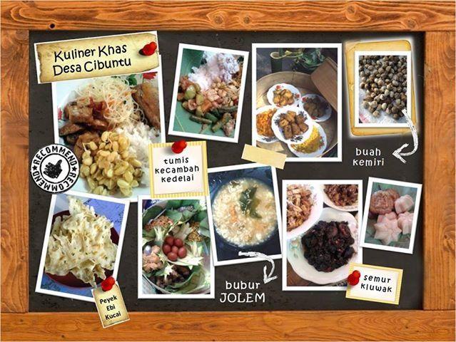 Traditional food of Cibuntu