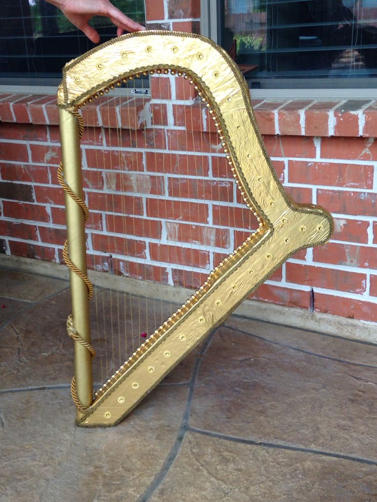 "Golden harp for ""Into the woods"""