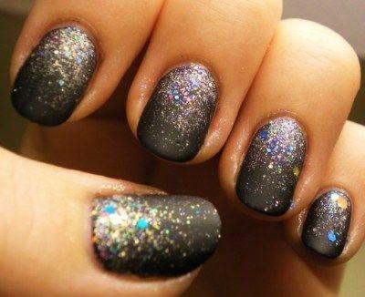 slate grey with sparkles