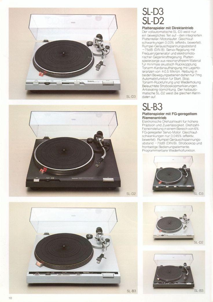 Vintage audio Technics SL-D2 Turntable
