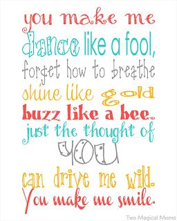 Free You Make Me Smile Printable