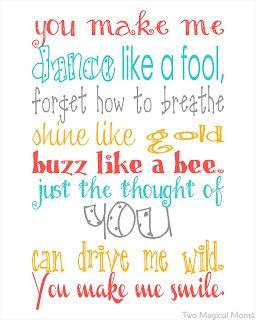 Free You Make Me Smile Printable