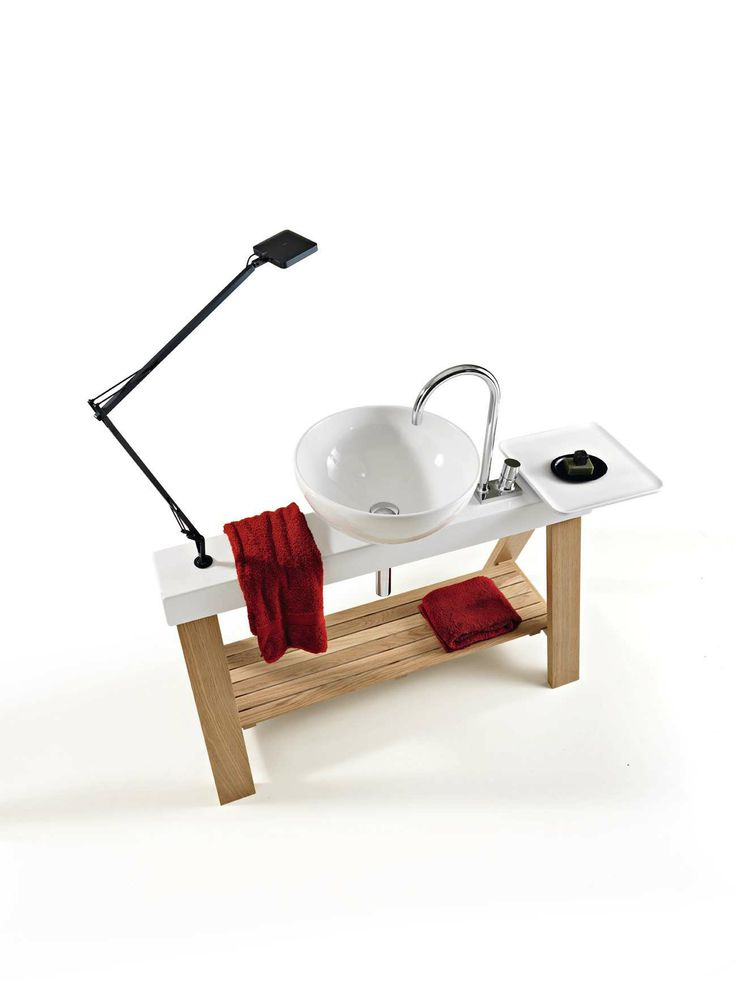 Il Cavalletto, design Meneghello Paolelli Associati. #design #bathroom #bagno #lavabo #Artceram #wshbasin #furniture #wood #legno #naturale