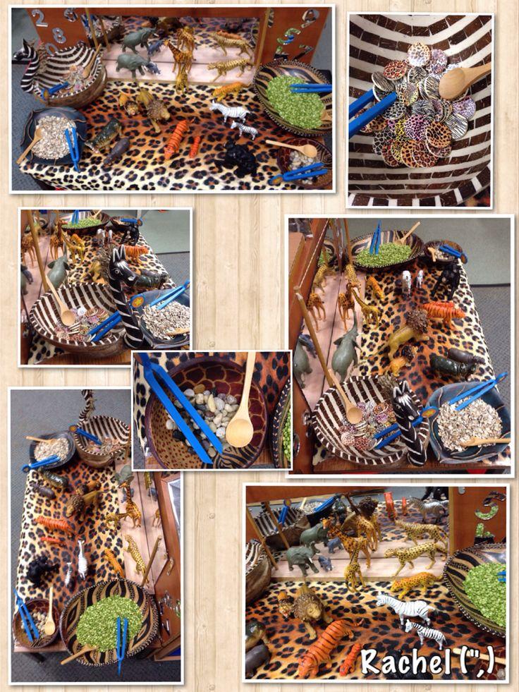 "Fine motor fun with wild animals from Rachel ("",)"