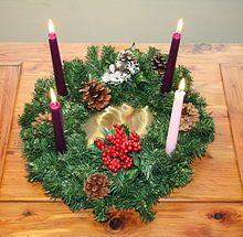Advent wreath - Wikipedia, the free encyclopedia