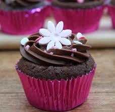 Image result for images of cup cakes with flowers