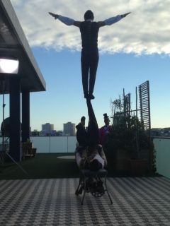 #MadameZingara Expresso caught up with us and our Icarians. Check out our rare and unique human foot juggling act. The act is an explosive form of art, transforming the human body into a catapult and catcher.