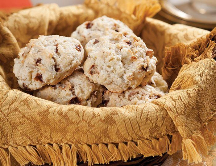 These Apple-Cinnamon-Walnut Drop Scones feature the best flavors of harvest season.